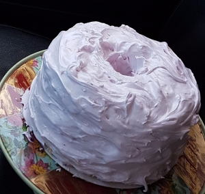 Angel Food Cake with Italian Meringue