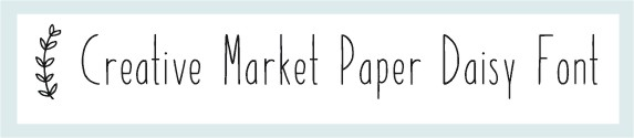 paper daisy font
